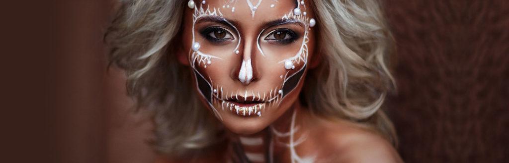Maquiagem para o halloween.