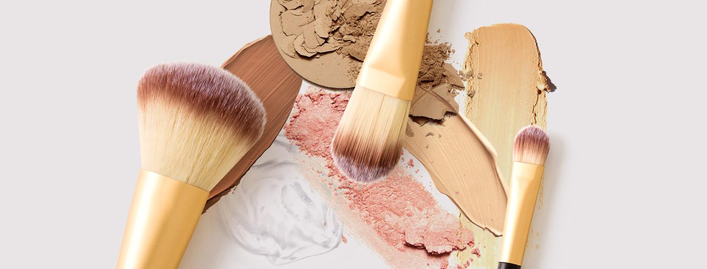 Produtos da maleta de maquiagem completa