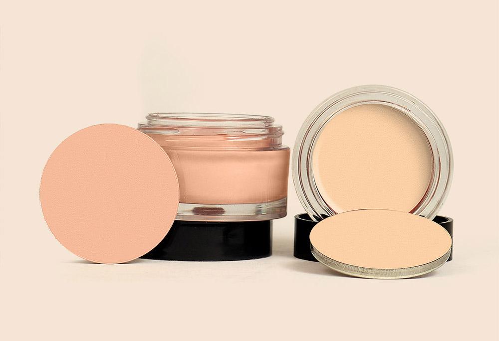 Imagem do produto camuflagem makiê sobre sua textura no artigo maquiagem em foto.